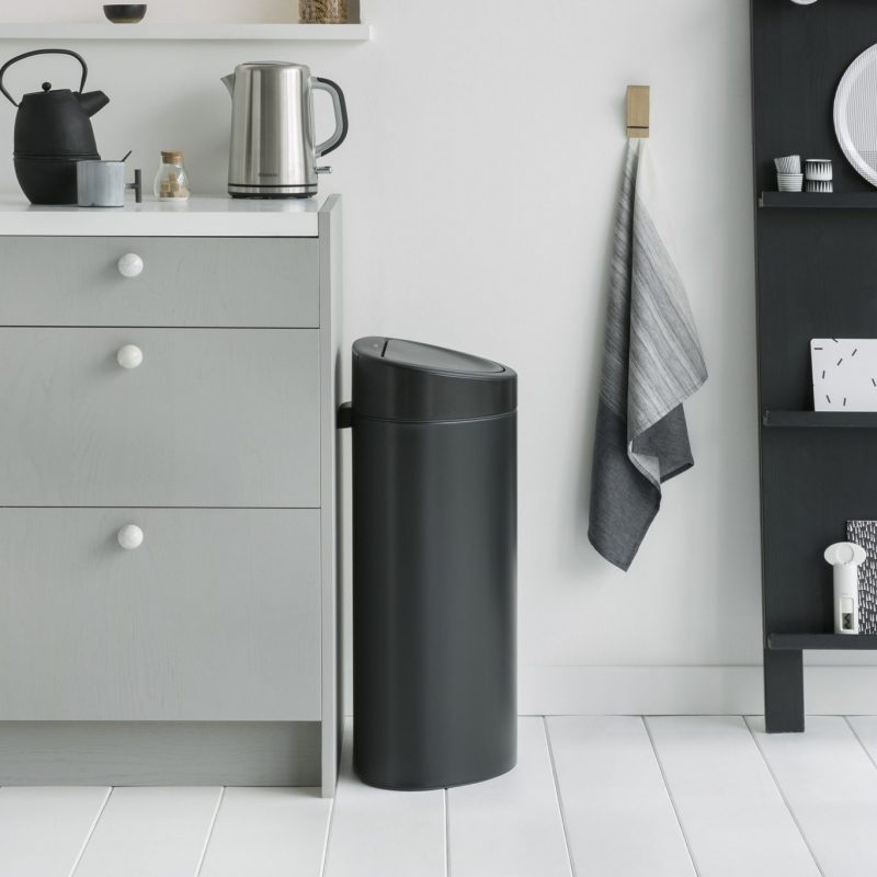 Brabantia-Touch-Bin-40L-Matt-Black-from-Binopolis